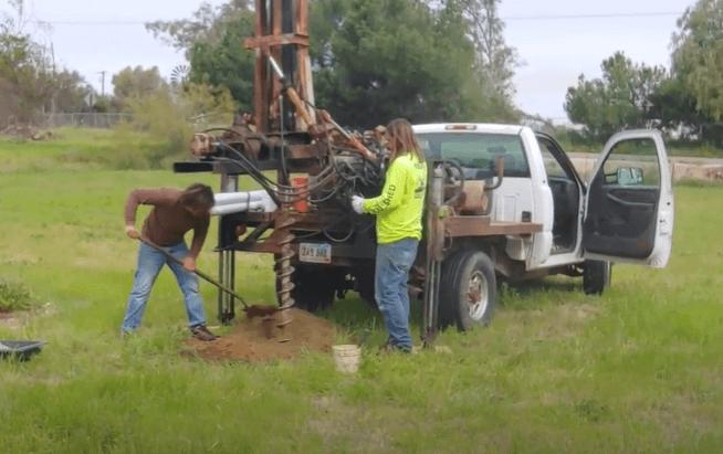 percolation-drilling
