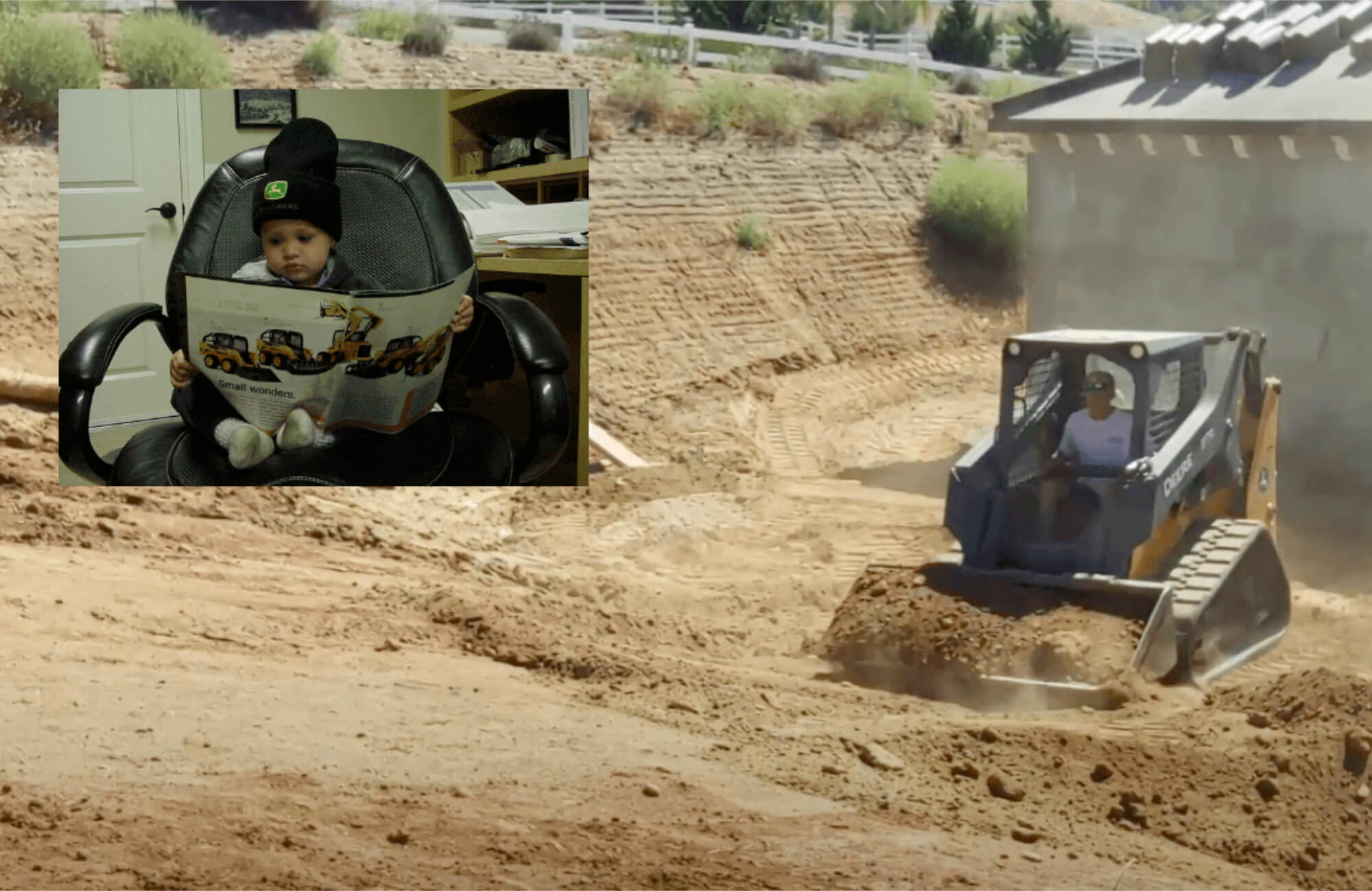 Brad Freeman Backfilling Utility Trenches for an ADU in Blossom Valley