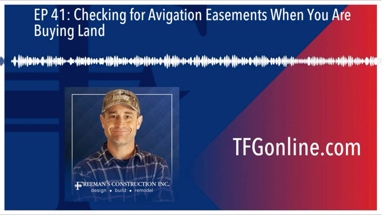 EP 41 Checking for Aviation Easements When You Are Buying Land